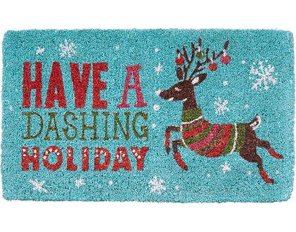 Dashing Reindeer Holiday Doormat