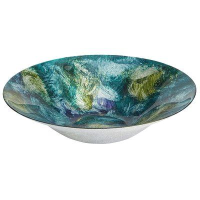Green blue glitter swirls bowl everything turquoise for Glitter bowl