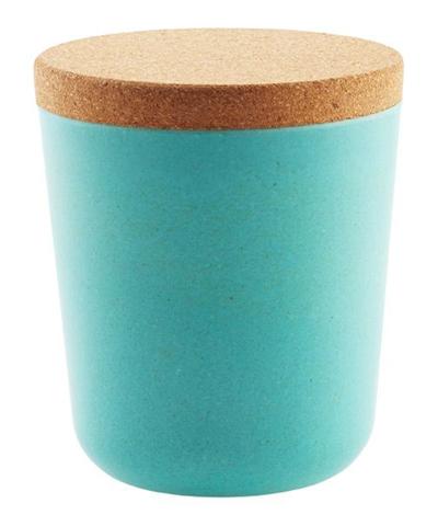 Large Aqua Bamboo Jar