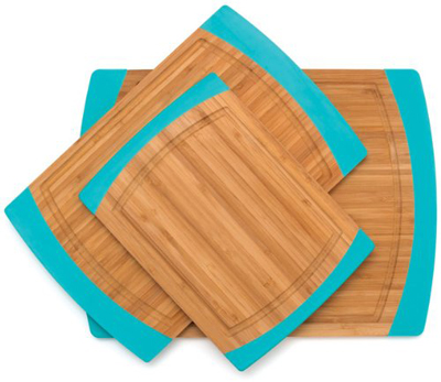 Non-Slip Cutting Boards with Silicone Edges