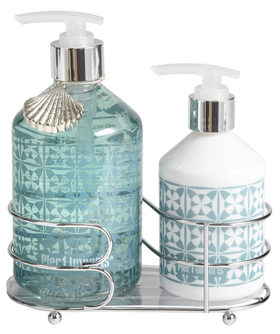 Sea air soap lotion caddy everything turquoise Hand wash and lotion caddy