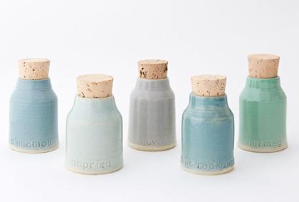 Vitrified Studio Spice Bottle Set