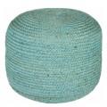 Blue Zinc Pouf