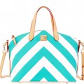 Dooney & Bourke Sea Foam Chevron Gabriella Satchel