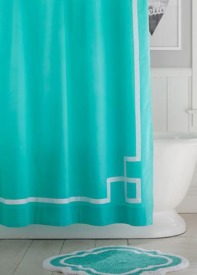 Emma Ribbon Trim Shower Curtain