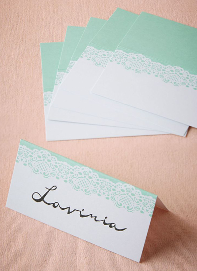 Minted Lace Place Cards