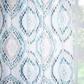 Cotton Canvas Mosaic Medallion Curtain