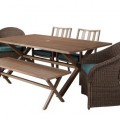 Holden 6-Piece Metal/Wicker Rectangular Patio Dining Furniture Set