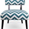 Teal Chevron Lounge Chair
