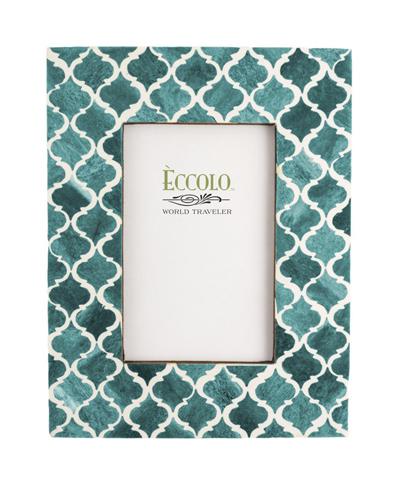 Turquoise Moorish Tile Frame