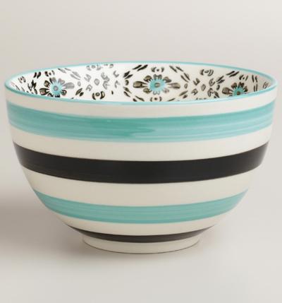 Turquoise Stripe Holland Park Bowls