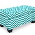 Zig Zag Upholstered Storage Bench