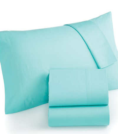 Martha Stewart Aqua Solid Sheet Sets