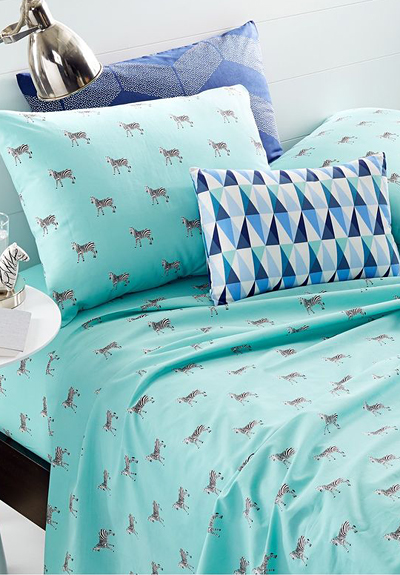 Martha Stewart Whim Zebra Sheet Set