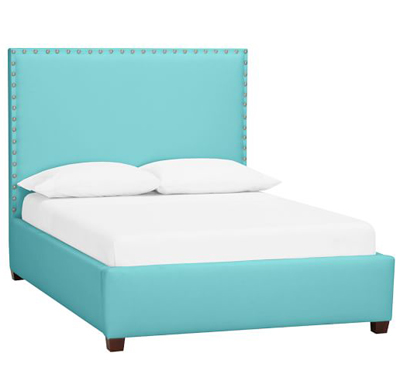 Raleigh Upholstered Square Bed + Headboard