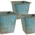 Rimmed Rustic Planters