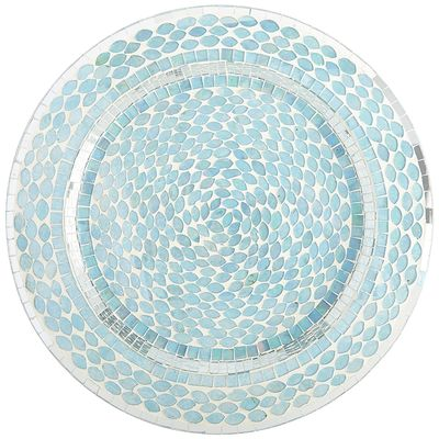 Turquoise Ocean Mosaic Charger