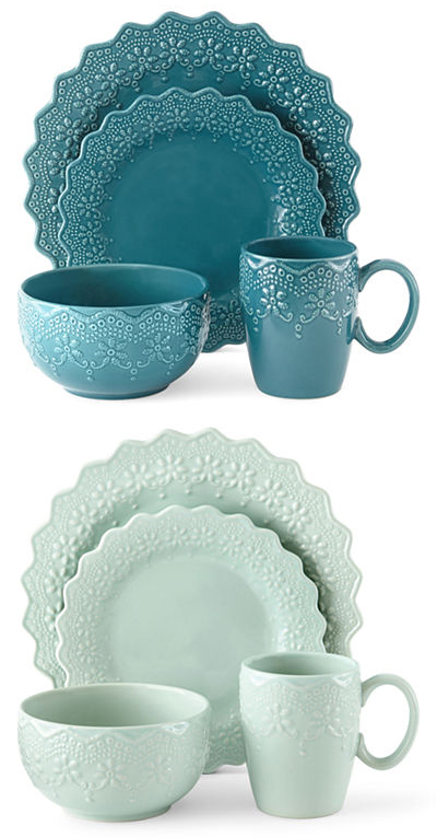 Chantilly Lace 16 Pc Dinnerware Set Everything Turquoise