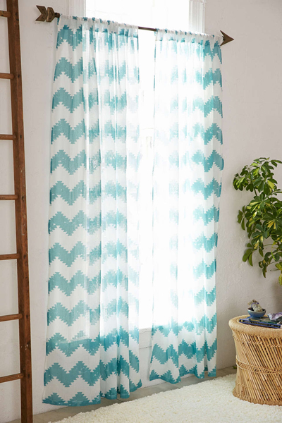Turquoise Chevron Window Curtains - Best Curtains 2017