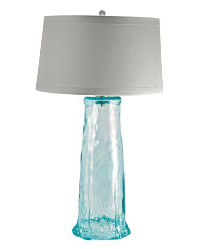 Lighting everything turquoise for Waterfall lamp shade