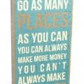 Take Vacations Burlap Box Sign