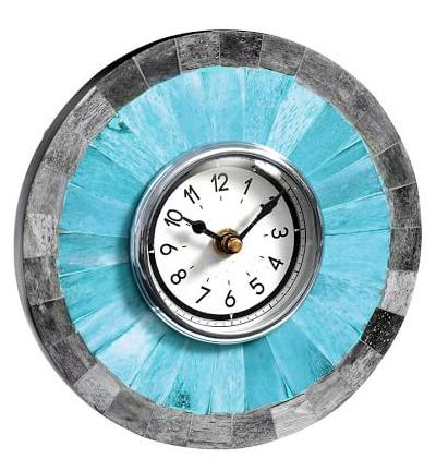 Turquoise Bone Desktop Clock