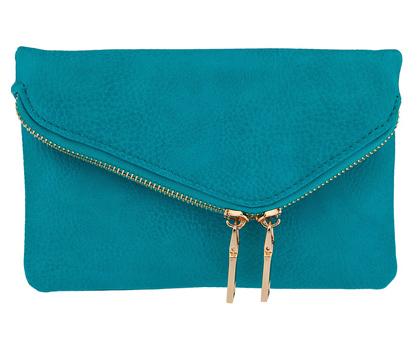 Turquoise Luciana Asymmetric Clutch
