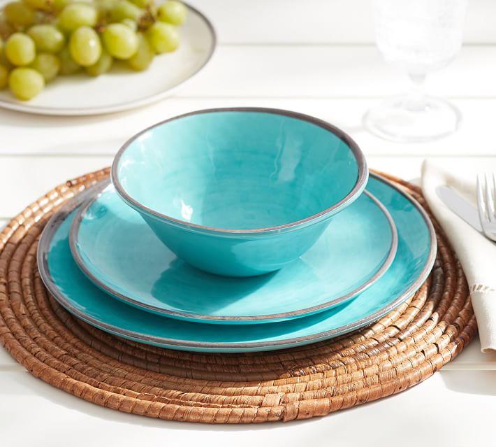 Turquoise Swirl Melamine Dinnerware & Turquoise Swirl Melamine Dinnerware | Everything Turquoise