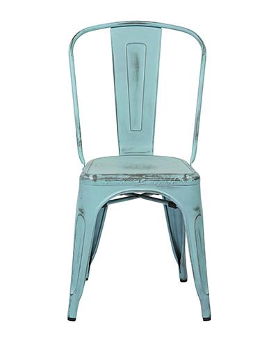 Bristow Antique Sky Blue Armless Chair