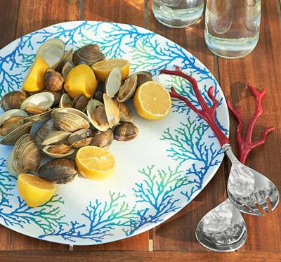 Coral Melamine Serving Platter