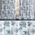 Add an element of vintage sophistication to any space with a crisp window panel in an dramatic, upscale floral print.