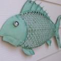 Nautical Wall Decor Metal Fish
