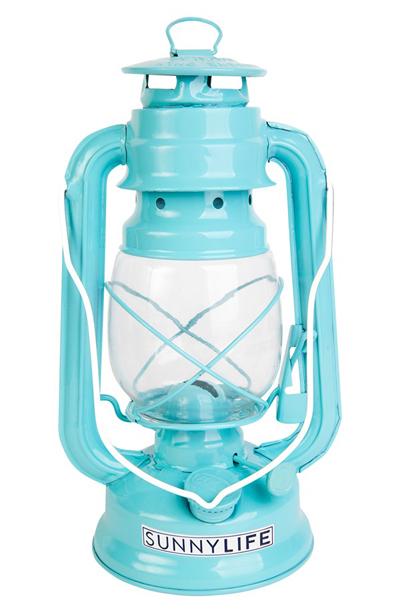 Sunnylife Turquoise Metal Lantern