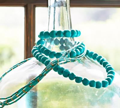 Turquoise Bead Strand Vase Filler