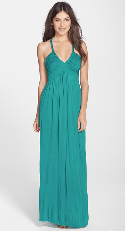 Braided Strap Jersey Maxi Dress Everything Turquoise