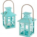 Kate Aspen Vintage Blue Lantern - Set of 6
