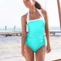 Lauren Ralph Lauren Ruched Halter One-Piece Swimsuit