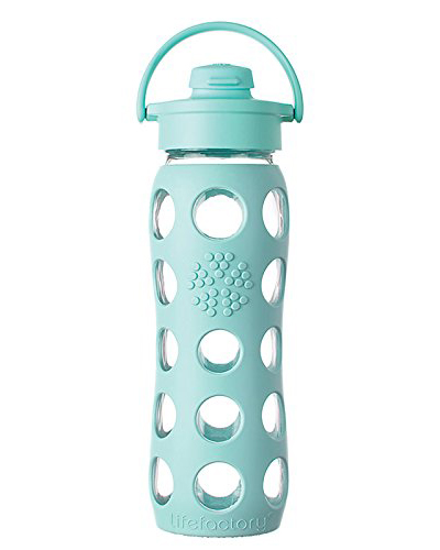 Lifefactory Turquoise Glass Bottle