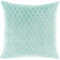 Turquoise Scalloped Diamond Pillow