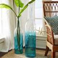 Aqua Ombre Floor Vase