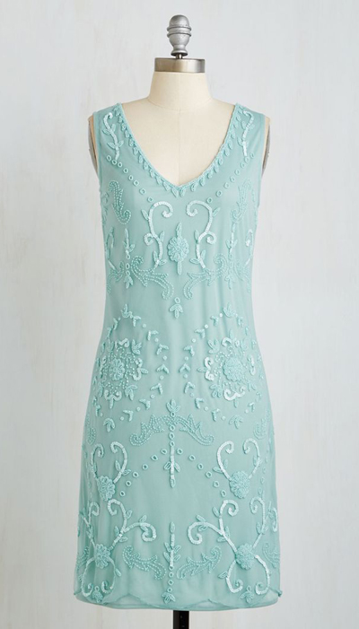 Bead It Dress in Seaglass