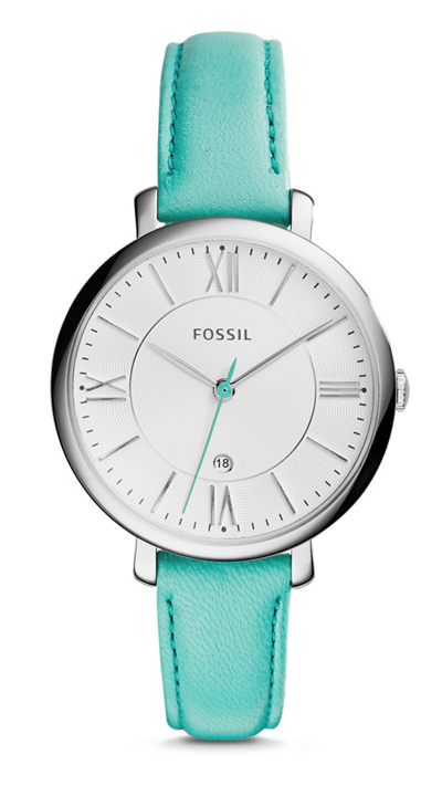 Jacqueline Green Leather Watch