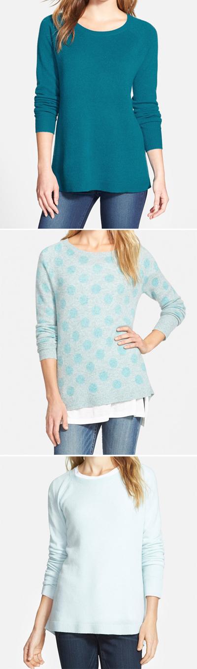 Halogen Zip Back Cashmere Sweater