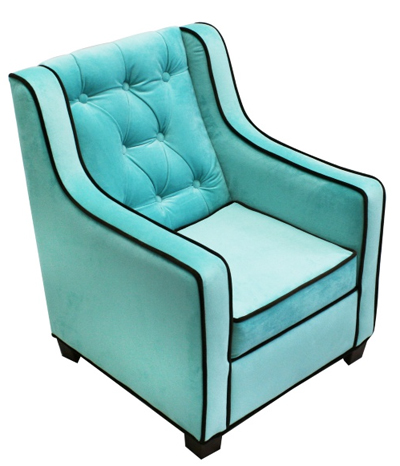 Komfy Kings Grand Chair - Aqua/Choco