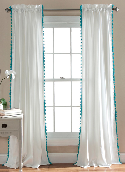 Pom Pom Window Curtain Panel