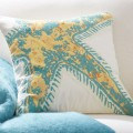 Starfish Icon Embroidered Pillow Cover