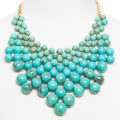 Turquoise Bubble Bib Statement Necklace
