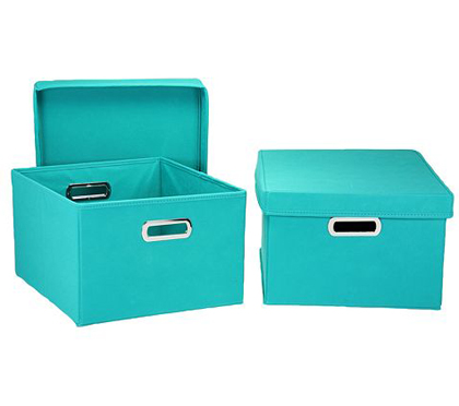 Aqua 4-pc. Storage Box Set