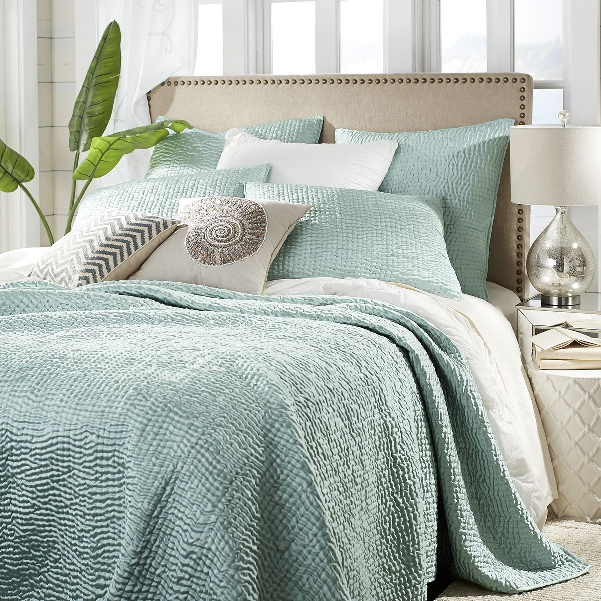 Aqua Essex Quilt Amp Sham Everything Turquoise