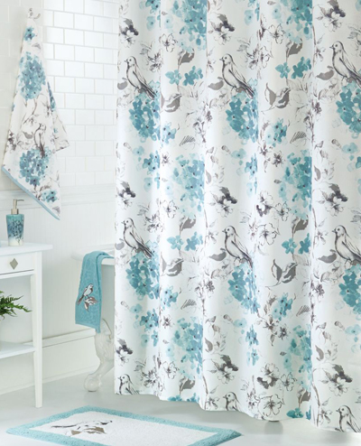 Birds Blooms Shower Curtain Everything Turquoise